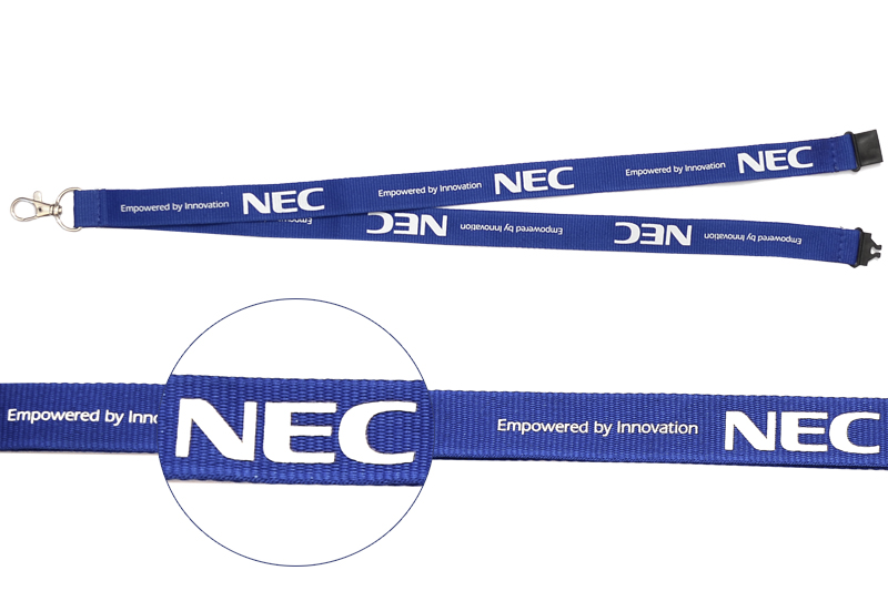 Custom Flat Polyester Lanyards